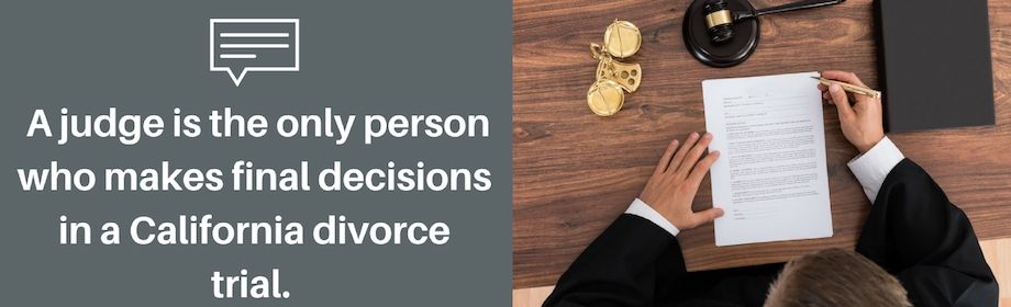 What Happens During Divorce Court In The State Of California?